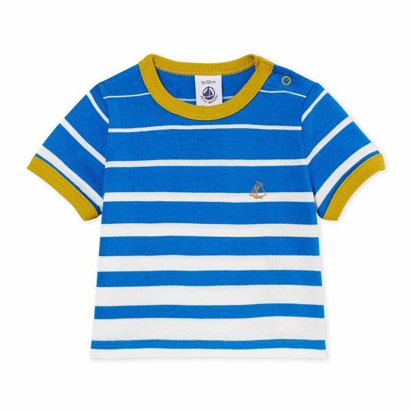 Baby-T-Shirt-Junge-blau-Petit-Bateau-47395-01-front