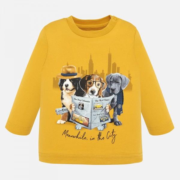 Kinder-Langarmshirt-safran-DOGS-2022076-mayoral-front