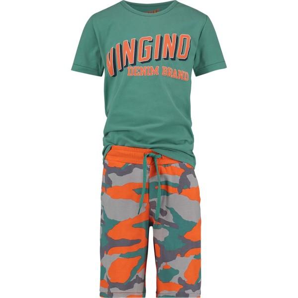 Jungen-Schlafanzug-Wahid-petrol-orange-Vingino-72404218-front