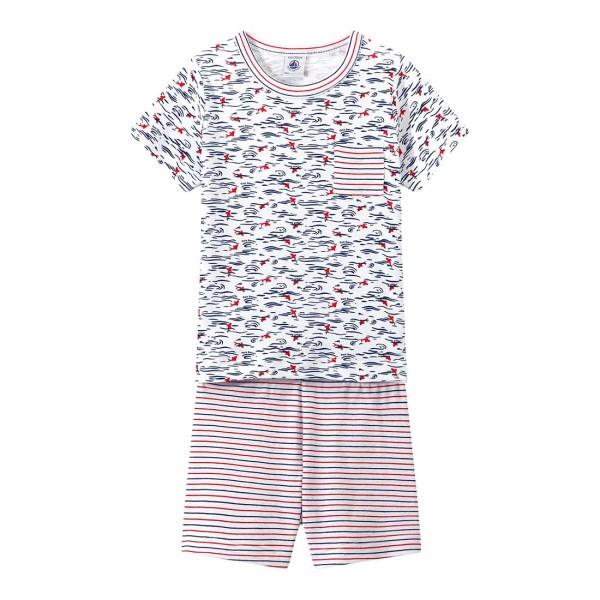 Jungen-Schlafanzug-weiß-Print-Petit-Bateau-28852-68-front