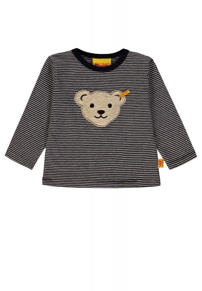Kinder-Langarmshirt-beige-marine-Steiff-6843711-front