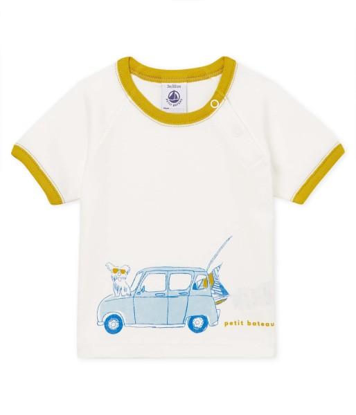 Baby-T-Shirt-Junge-weiß-Petit-Bateau-47366-01-front