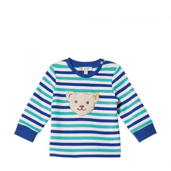Baby-Langarmshirt-mintgrün-gestreift-Steiff-l001913111-front